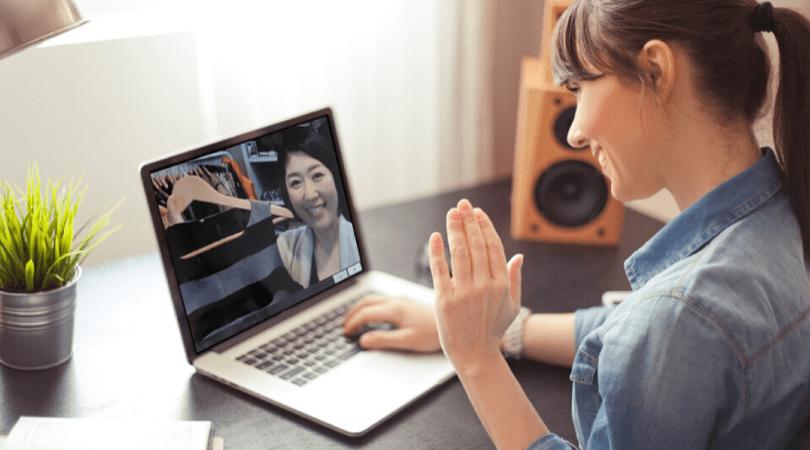 オンライン接客をビデオ通話で