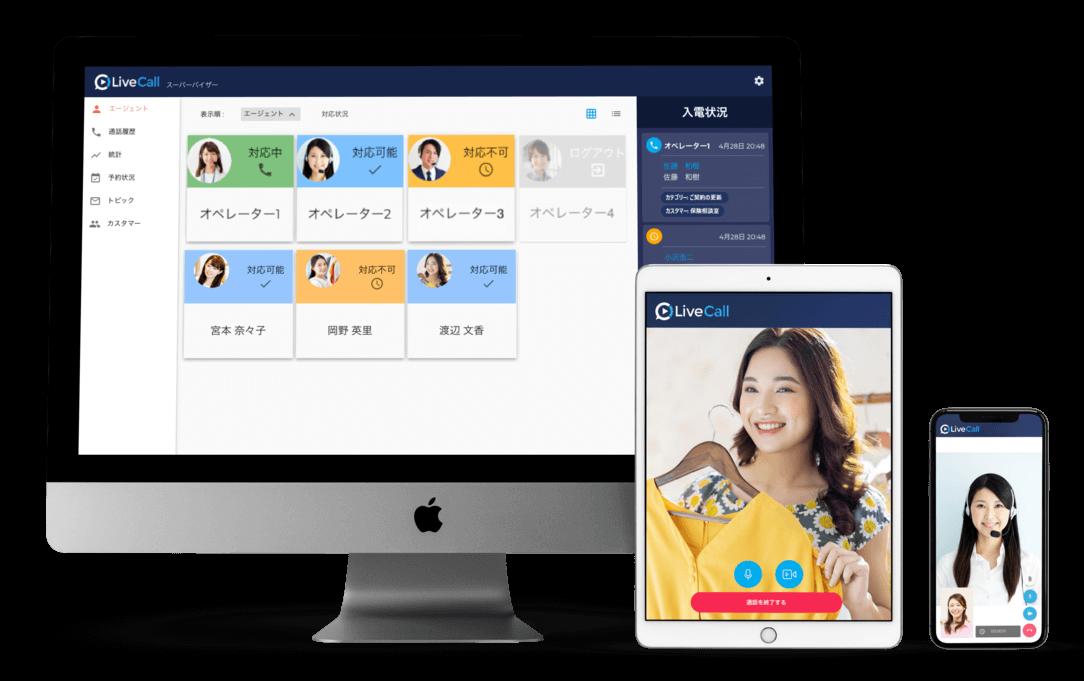 オンライン接客システムLiveCall