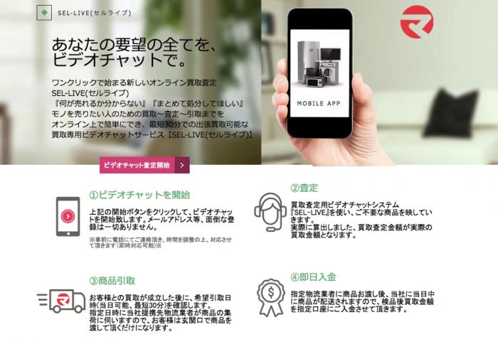 オンライン査定サービス「セルライブ」