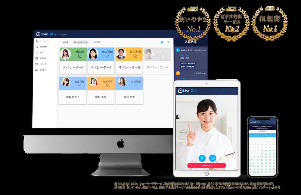 リモートから栄養士や面談の状況を一元管理できる、No.1オンライン面談システム。